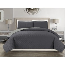 Reversible Bedspread Charcoal