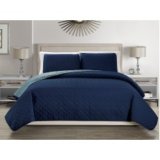 Reversible Bedspread Navy