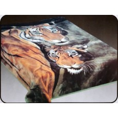 1 Ply Blanket - Tiger Couple
