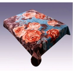 LA Coyo Blanket - Brown Flowers