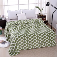 Super Soft Microfiber Blanket - Green Pattern