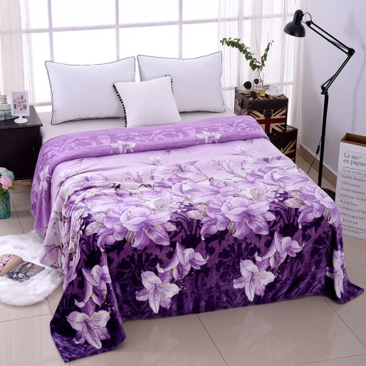 Super Soft Microfiber Blanket Lily Pattern