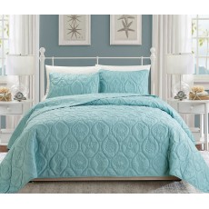 Cozy Bedspread Spa Blue