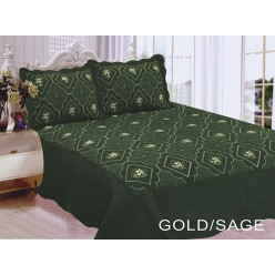 Polysilk Quilt Gold - Sage