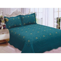 Polysilk Quilt Gold - Turquoise