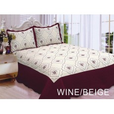 Polysilk Quilt Wine Beige