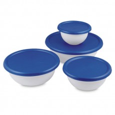 8 Piece Covered Bowl Set