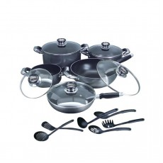 16 PC Non-Stick Heavy Gauge Cookware Set