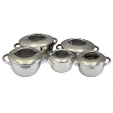 10 PC Heavy Duty Stainless Steel Cookware Set