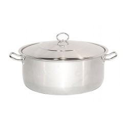 Stainless Steel Stock Pot With Lid - 22Qt - 26Qt