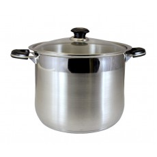 Stainless Steel Stock Pot With Glass Lid - 10Qt - 30Qt