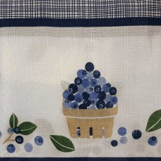 Blueberries Kitchen Curtain