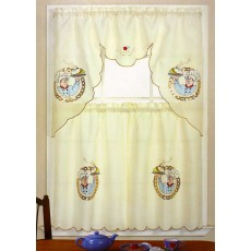 Golden Chef Kitchen Curtain