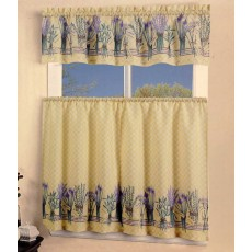 Lavender Flowers Kitchen Curtain