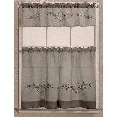 Rustic Floral Kitchen Curtain