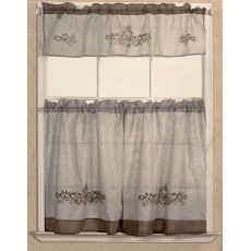 Rustic Scroll Kitchen Curtain
