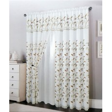 Lucia Embroidered Curtain Panel