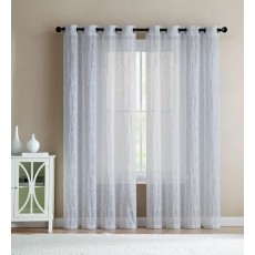 Ariel Sheer Embroidered Grommer Curtain Panel